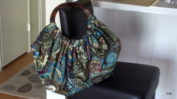Cheryl Katch Hobo Bag w/ Acrylic Ring Handle