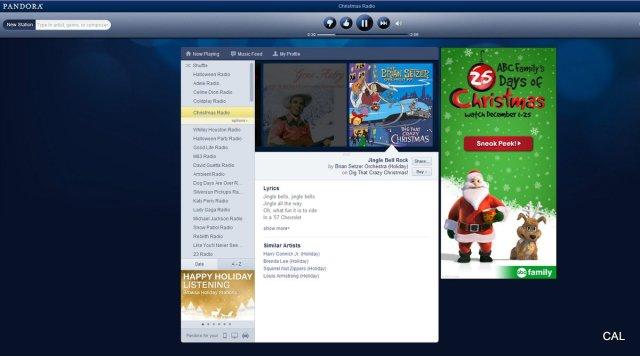 1 fullscreen capture 11292012 121035 pmjpgw640 - Best Pandora Christmas Station