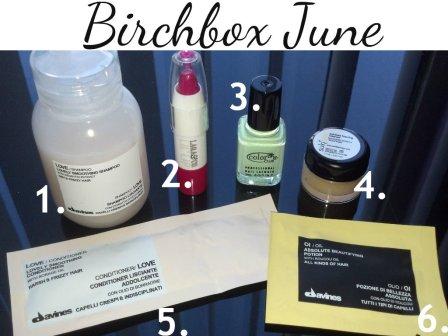 Birchbox June Products Individual